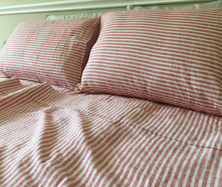 Pinstripe Comforter Set Garment Dyed Ticking Stripe Duvet