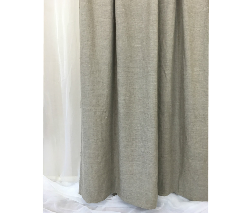 Dark knight shower curtain -  Natural Linen Shower Curtain Light Grey