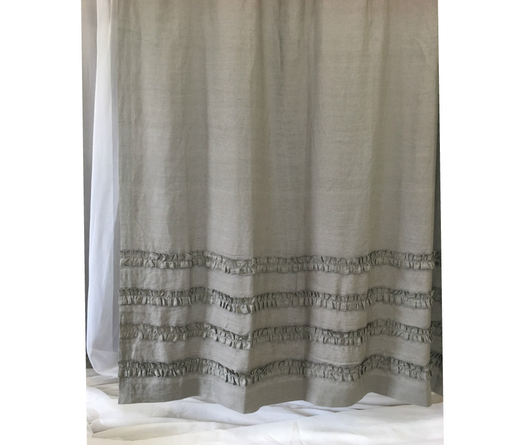 ... Grey Ruffle Shower Curtain · Ruffle Shower Curtain ...