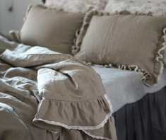 ruffle duvet cover inspired by French country style.
