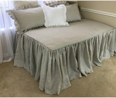 daybed cover, fully gathered, handmade by Superior Custom Linens