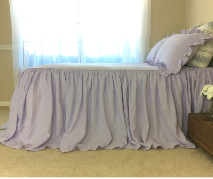 how to make a bedspread with split corners
