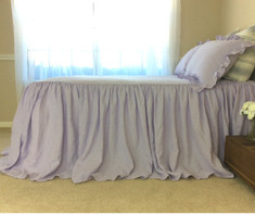 Purple linen Bed Cover | Handcrafted by SuperiorCustomLinens.com
