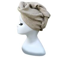 Hair Turban Towel handmade in natural linen