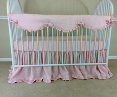 Baby Girl Bumperless Crib Bedding | Handcrafted by Superior Custom Linens
