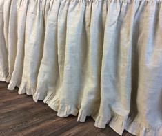 Natural Linen bedskirt | Handcrafted by Superior Custom Linens