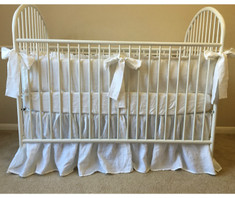 Neutral baby bedding set |  | Handcrafted by Superior Custom Linens