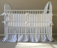 Baby boy bedding, bumper with piping finish