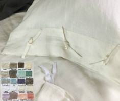 Linen Duvet Cover with Ties  - Pick your color