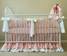 Baby girl baby bedding set | Handcrafted by Superior Custom Linens