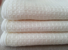 White Waffle Towels  | Handmade by Superior Custom Linens