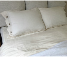 Linen Duvet cover with button closure in twin, queen, king, California king size