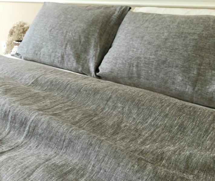 chambray grey duvet cover chambray linen