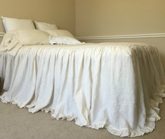 bedspreads and coverlets handmade in natural linen
