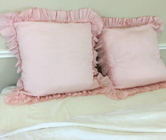 ruffle sham pillows