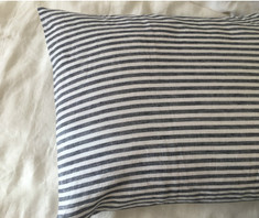 navy and white stripe euro sham