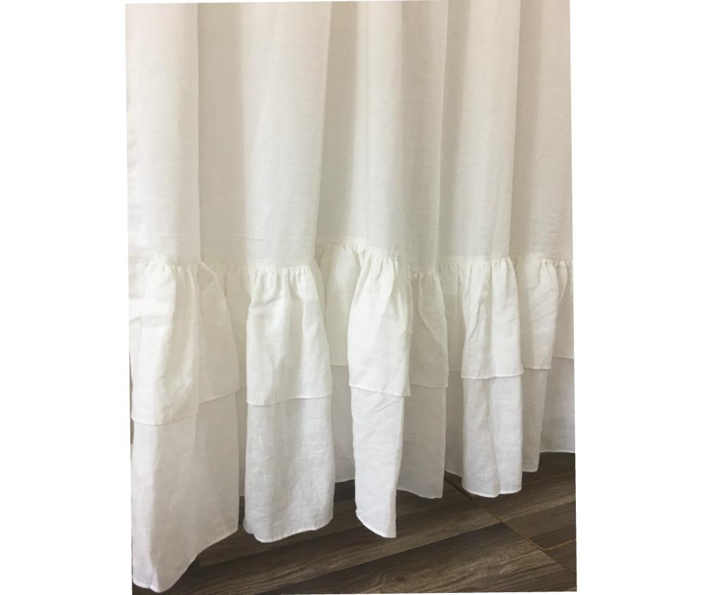 White long ruffle shower curtain, 72x72, 72x85, 72x94, Custom Size ...