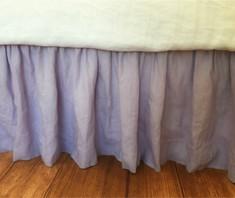 Lavender bed skirt