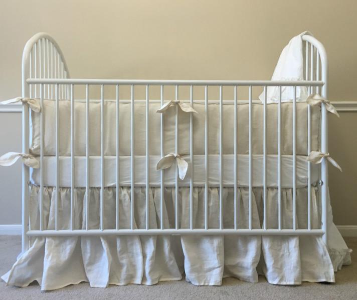 Ivory Baby Bedding Handmade In Natural Linen ...
