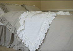 Grey ruffle duvet cover