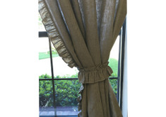 Linen ruffle curtains | Handcrafted by SuperiorCustomLinens
