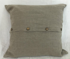 dark linen euro sham with button closure