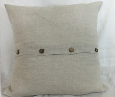 natural linen euro sham with buttons