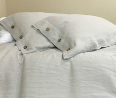 stone grey button duvet covers