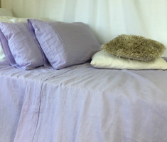 Lavender Light Purple Linen Sheets Set