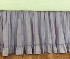 Purple lavender gathered beds skirt