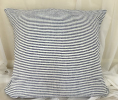 Bengal Stripe Denim Euro Sham Cover