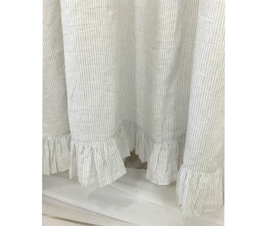... Ticking Striped Ruffled Shower Curtain ...