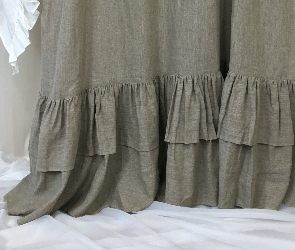 ... Extra Long Ruffle Shower Curtain ...