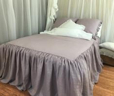 Orchid Linen Bedspread