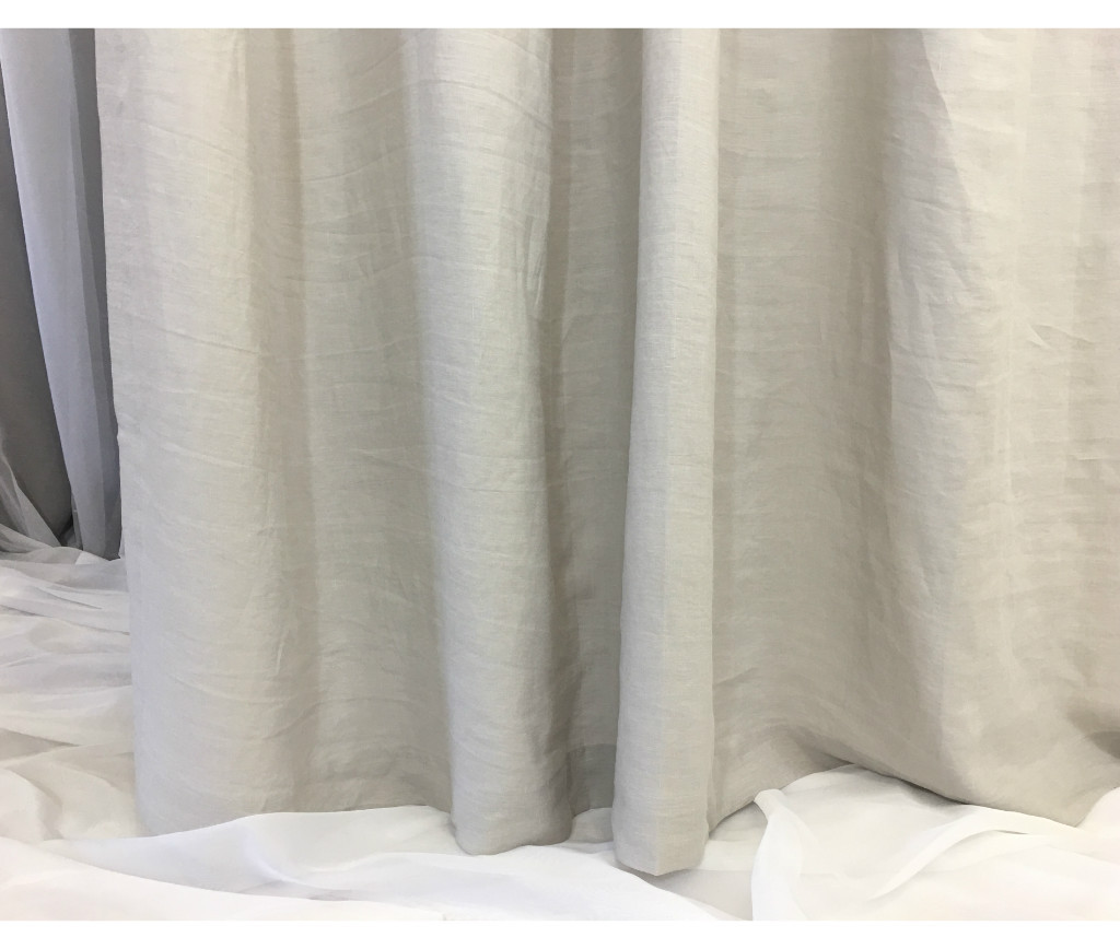 Stone Grey Shower Curtain | Handcrafted by SuperiorCustomLinens.com