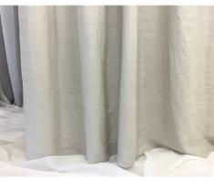 Stone Grey Linen Shower Curtain