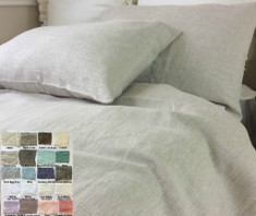 Natural Linen Duvet Cover - Pick Your Color