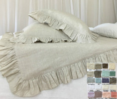 ruffle duvet cover - natural linen