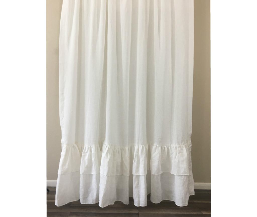 White ruffle curtain -  Image 7