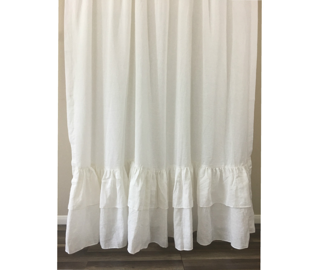 Country Curtains Cottage Style, Linen Curtain Panels with double ...