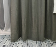 Gray Linen Curtain