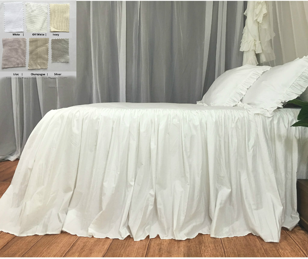 bedspread pima cotton white off white ivory silver lilac - Pima Cotton Sheets