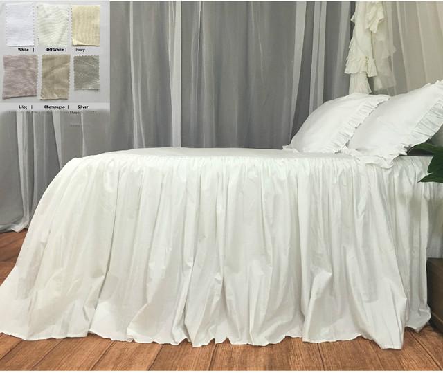 Bedspread - Pima Cotton - white, Off White, Ivory, Silver, Lilac, Champagne