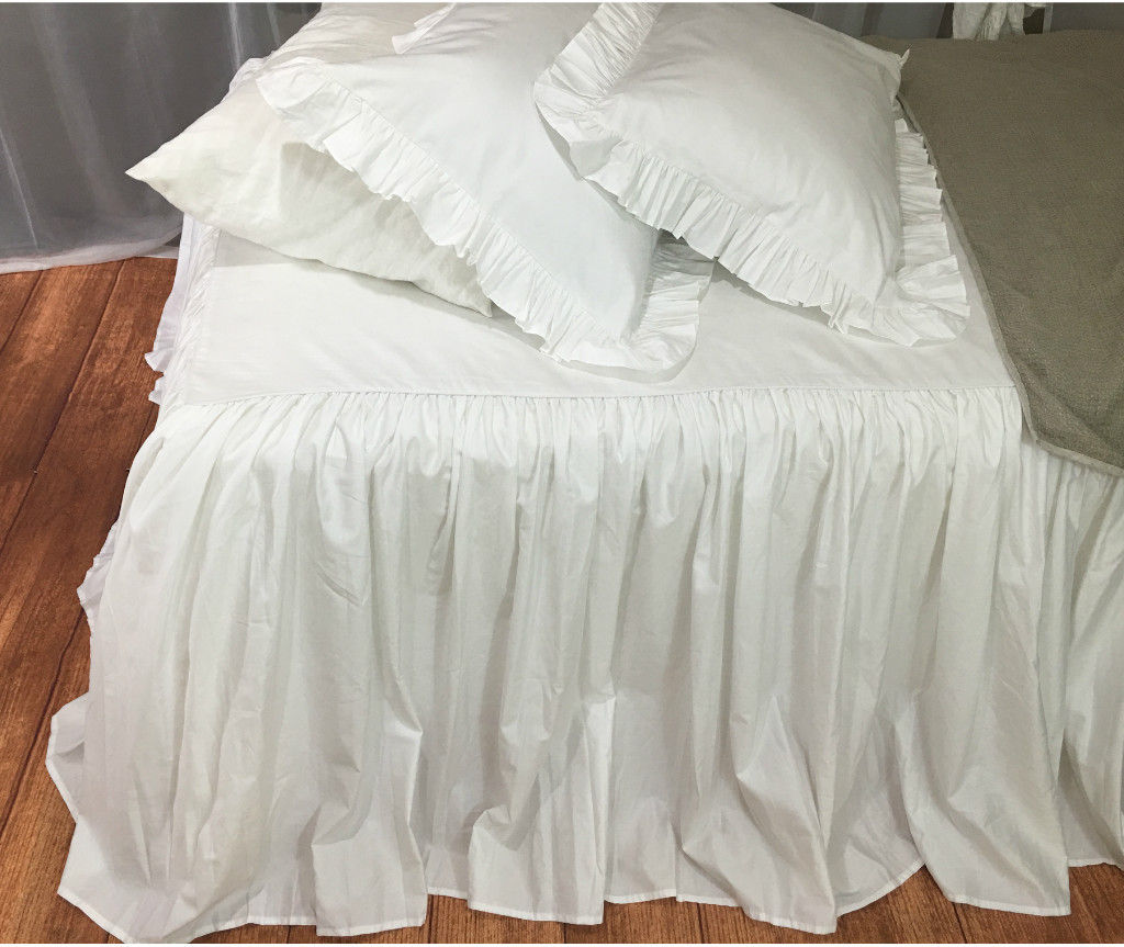 bedspread ruffled bed cover custom made from long staple pima