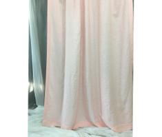 Pink linen curtain