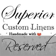 Queen Duvet Cover Set with Mermaid Long ruffles in Linen,  Linen Towels - Reserved