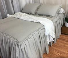 waterfall ruffle bedspread