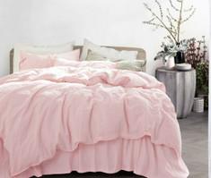Blush Pink Linen Duvet Cover, Stunning!
