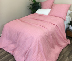 chambray duvet cover rose