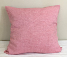 Chambray Rose Linen Euro Sham Cover